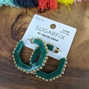 SUGARFIX by BaubleBar Stud Resin Hoop Earrings